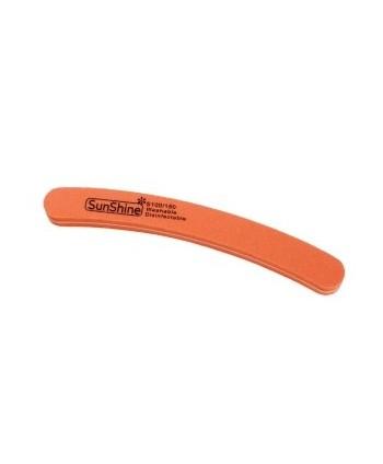 Pilník na nechty penový 180/240 banán oranžový