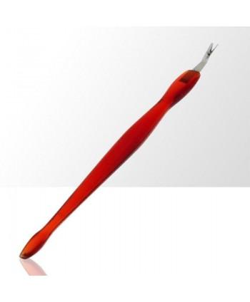 Orezávač kožičky + zatláčatko  červené