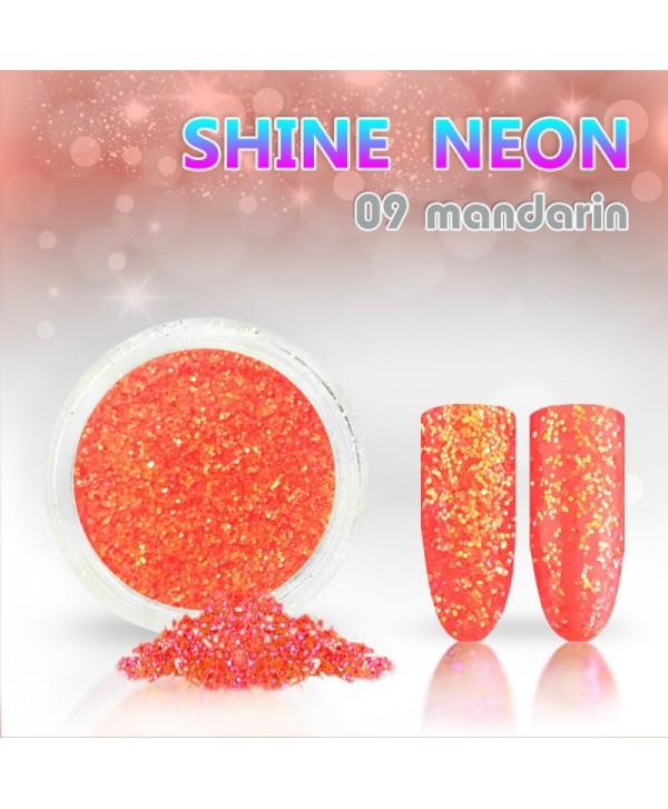 Neónový glitrový prášok 09 shine neon mandarin