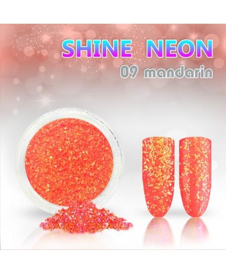 Neonový glitrový prášek 09 shine neon mandarin