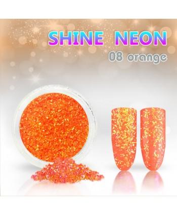 Neónový glitrový prášok 08 shine neon orange