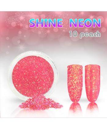 Neónový glitrový prášok 10 shine neon peach