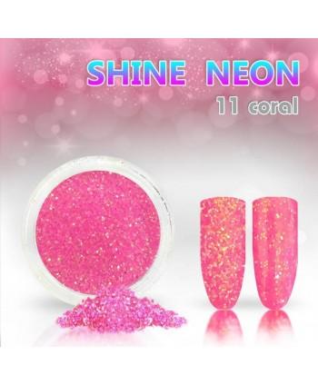 Neónový glitrový prášok 11 shine neon coral