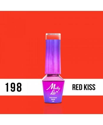 198. MOLLY LAC gél lak - RED KISS 5ml