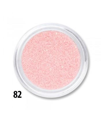 Glitrový prášok ružový č.82