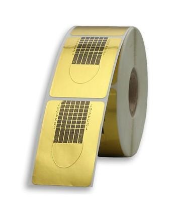 Šablony na nechty zlaté 500ks