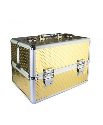 Kozmetický kufrík Unicorn zlatý 603-14