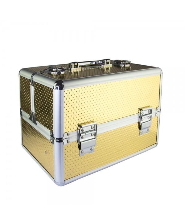 Kosmetický kufřík Unicorn zlatý 603-14