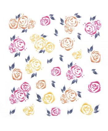 5D nálepka na nechty 566 - kvety