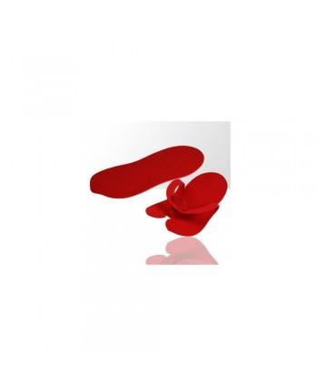Jednorázové žabky na pedikúru červené