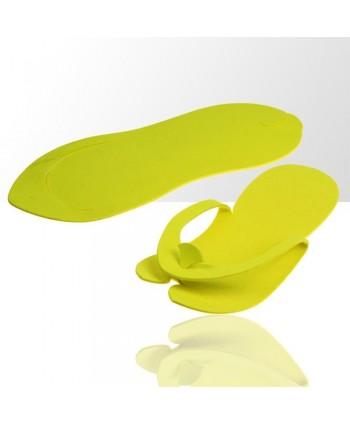 Jednorázové žabky na pedikúru žlté