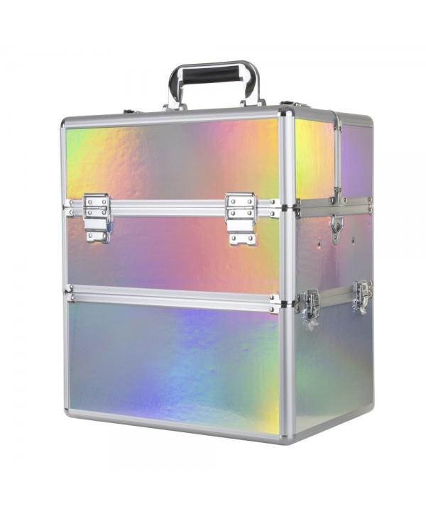 Dvoudílný kosmetický kufřík Holo 01