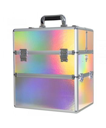 Dvojdielny kozmetický kufrík Holo 09
