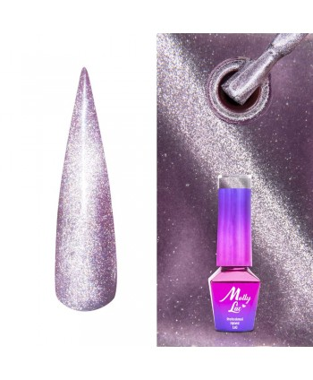 448. MOLLY LAC gél lak -Cat Eye Steel 5ml