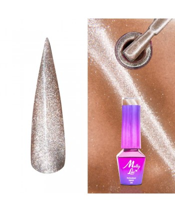 445. MOLLY LAC gél lak -Cat Eye Wood 5ml