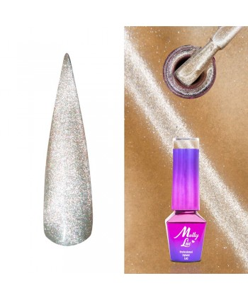 444. MOLLY LAC gél lak -Cat Eye Ginger  5ml