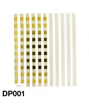 Nálepky na nechty zlaté DP001