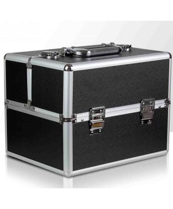 Kozmetický kufrík čierny 03
