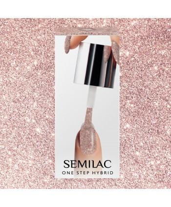 Semilac One Step gél lak S245 Glitter Pink Beige 5ml