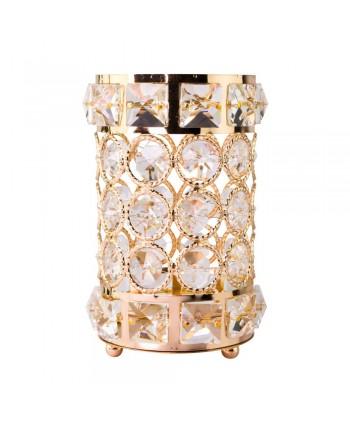 Luxusný stojan na štetce zlatý 02