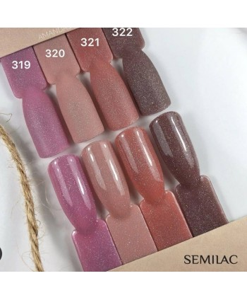 Semilac - gél lak 320 - Shimmer Dust Beige