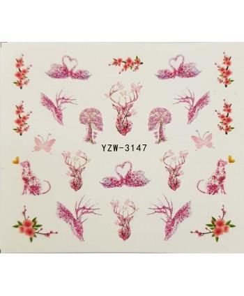 Vodonálepky na nehty YZW-3147