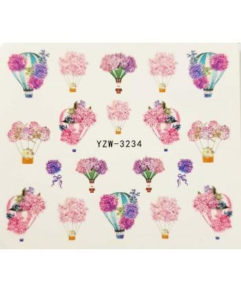 Vodonálepky na nehty YZW-3234
