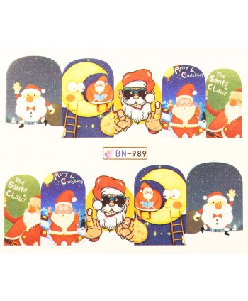 Vianočná vodolepka X-mas BN989