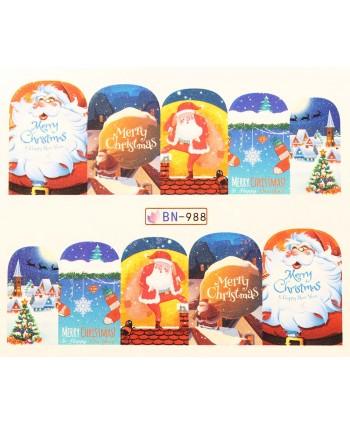 Vianočná vodolepka X-mas BN988
