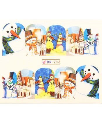 Vianočná vodolepka X-mas BN987