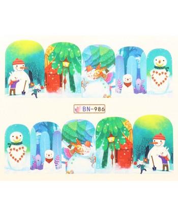 Vianočná vodolepka X-mas BN986