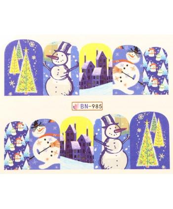 Vánoční Vodolepky X-mas BN985