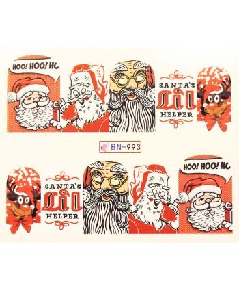Vianočná vodolepka X-mas BN993