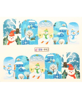 Vianočná vodolepka X-mas BN992