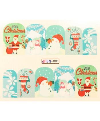 Vianočná vodolepka X-mas BN991