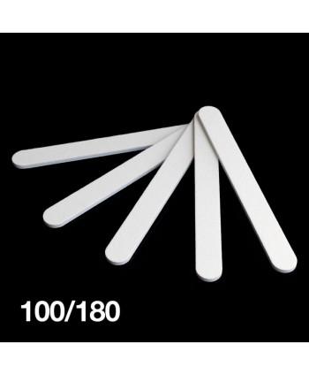Pilník bílý rovný 100/180