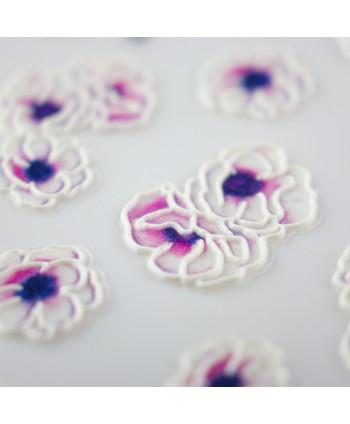 5D nálepka na nehty 12 - květy