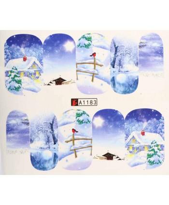 Vianočná vodolepka X-mas A1183
