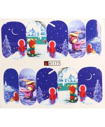 Vianočná vodolepka X-mas A1177