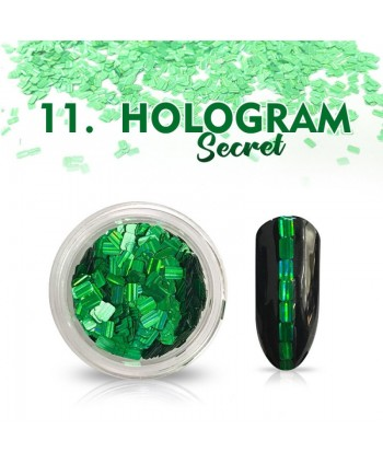 Hologram Secret 11 - zelené
