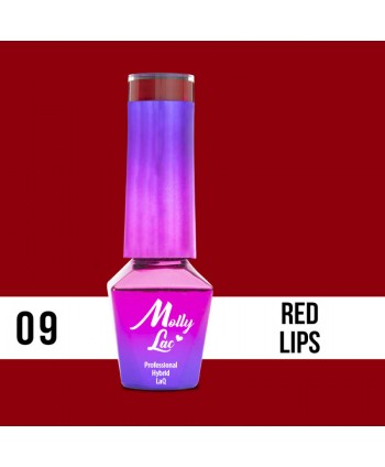 09. MOLLY LAC gel lak -Red...