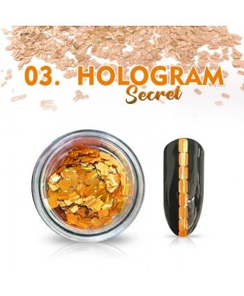 Hologram Secret 03 - oranžové