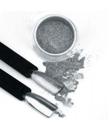 Pigmentový prášok Glass Silver