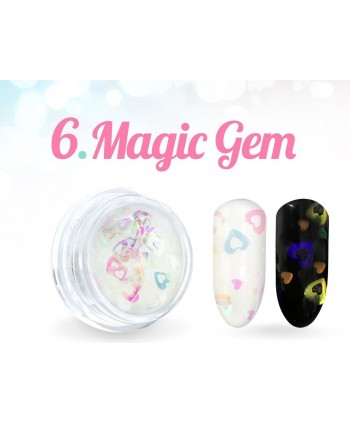 Ozdobné srdíčka Magic Gem 06.