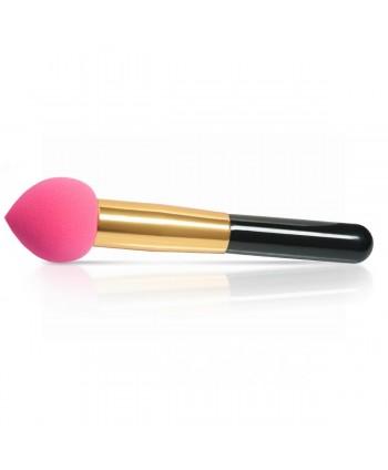 Kozmetická hubka s rúčkou na make up ružová