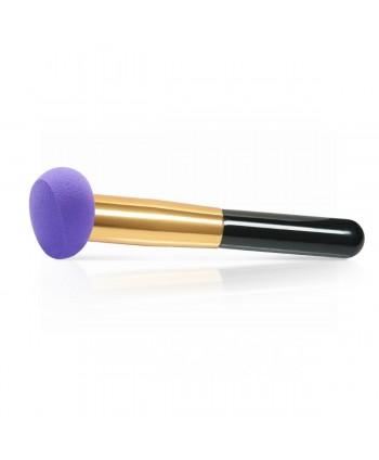 Kozmetická hubka s rúčkou na make up fialová