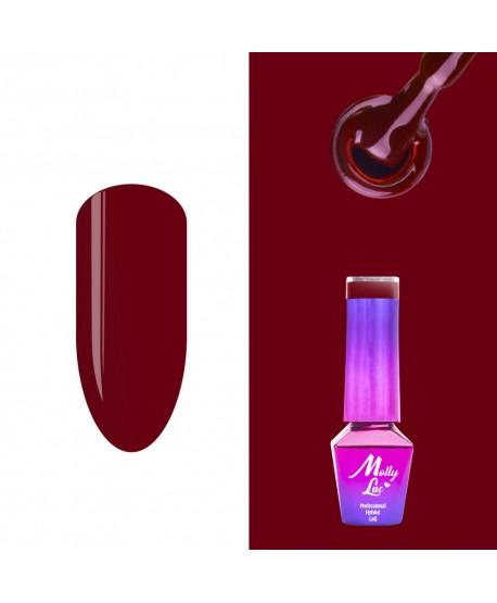 496. MOLLY LAC gel lak AntiDepressant Scarlet 5ml