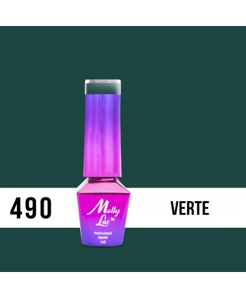 490. MOLLY LAC gél lak AntiDepressant Verte 5ml