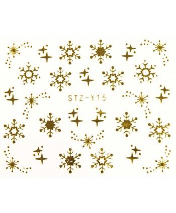 Vodonálepka na nechty STZ-Y15 zlatá