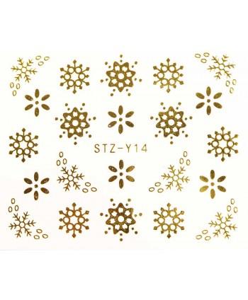 Vodonálepka na nechty STZ-Y14 zlatá